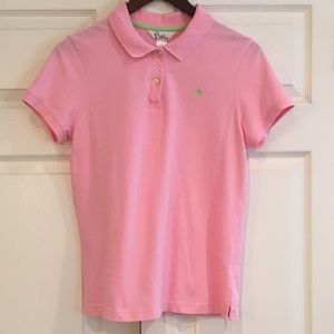 LILLY PULITZER SS Pink Polo Shirt L